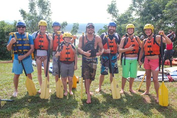 Our rafting group