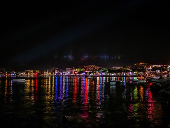 The shiny lights of Bodrum