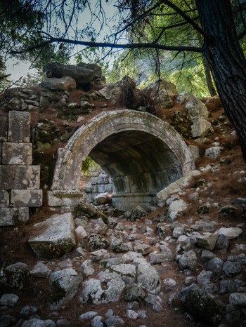 Large arch at Olympos