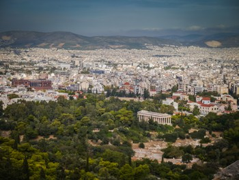 Temple of Hephaestus in the sea of Athens
