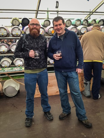 Me and Matt at the Robin Hood Beer Festival