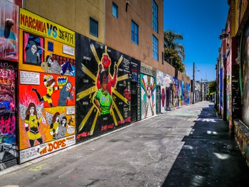 Awesome alley of murals