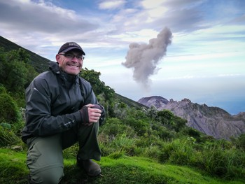 Me and Volcan Santiaguito erupting