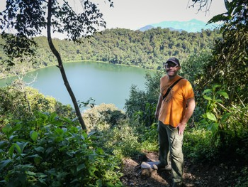 Me above Laguna Chicabal crater